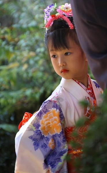 фото альбом Портрет Девочка в кимоно