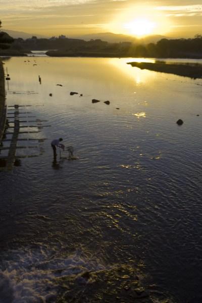 фото альбом Япония Рыбак на рассвете