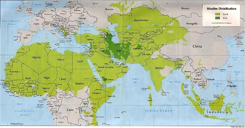 фотографии альбом Исторические карты развития Ислама Muslim distribution around the world nowadays