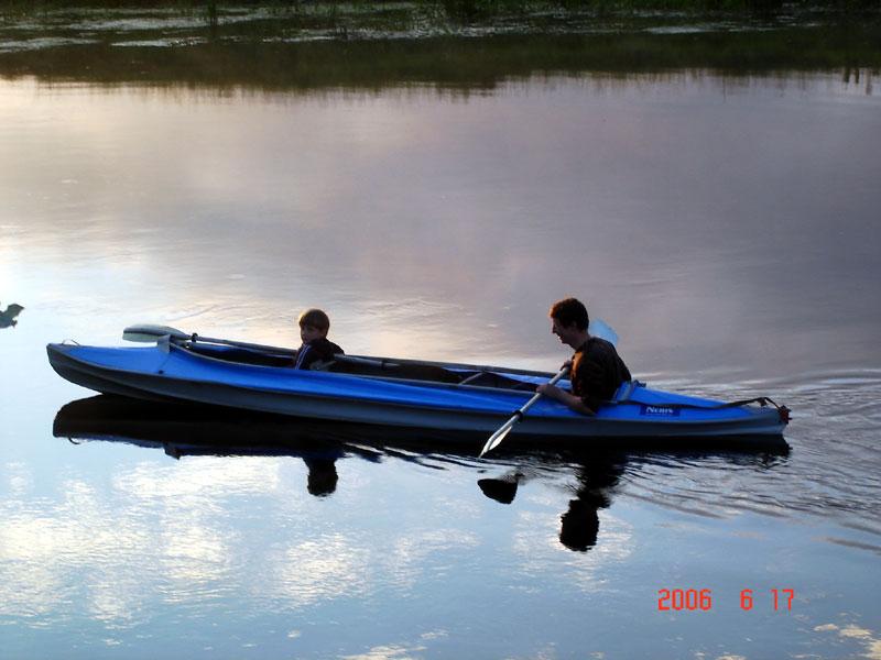 фото альбом Река Сиверский Донец идеальна для путешествия на байдарках С папой весело