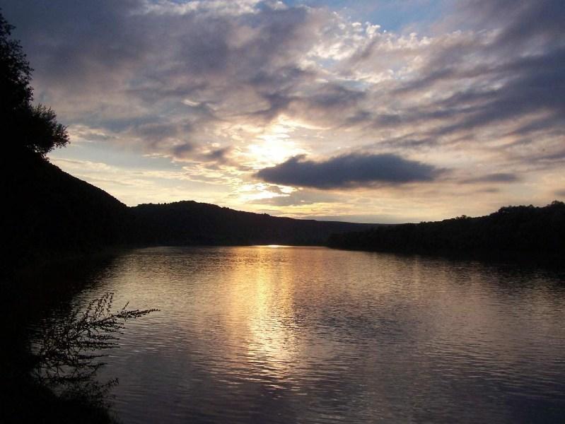 фото альбом Леса, озера - Дністер-06. Краєвиди Дністра Сонце сідає.