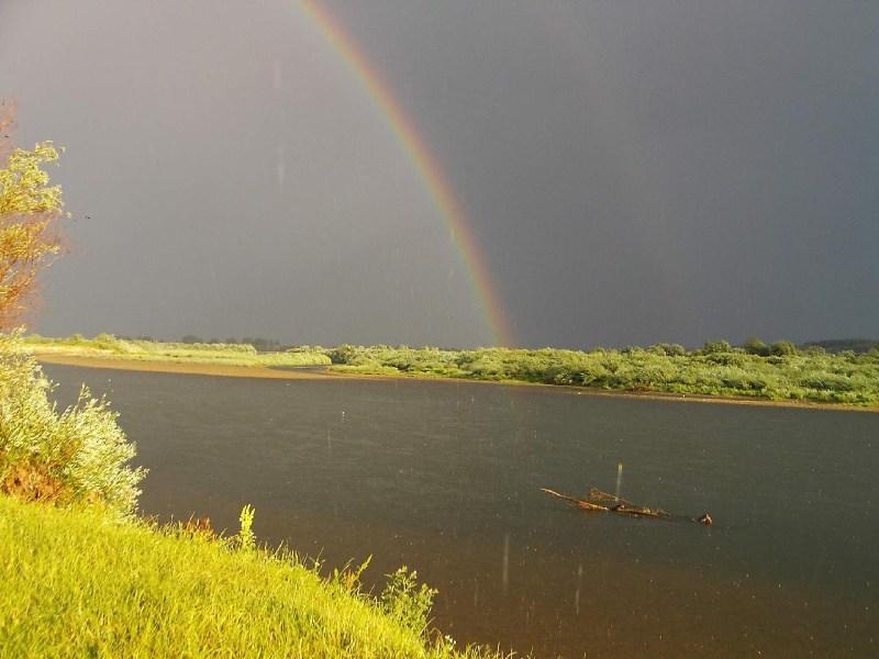 фото альбом Леса, озера - Дністер-06. Краєвиди Дністра Веселка в променях сонця