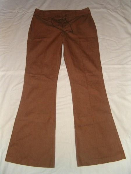 фотографии альбом Полная распродажа - женская одежда - все по 15грн,кроме пиджака Брюки коричневые, коттон, регулируется шнуровкой