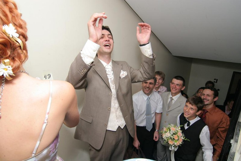 фото альбом Свадьба - Свадьба 19/08/2006: родственники и гости Выкуп, прогулка, церемония
