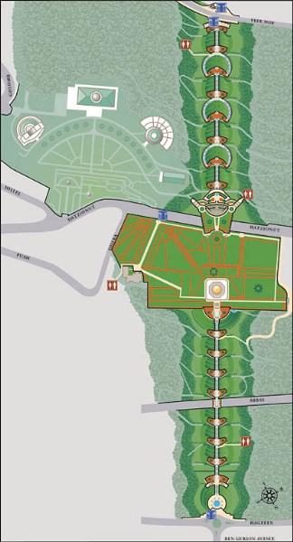 фото альбом Административные строения бахаи на горе Кармель карта админкорпусов и террас бахаи