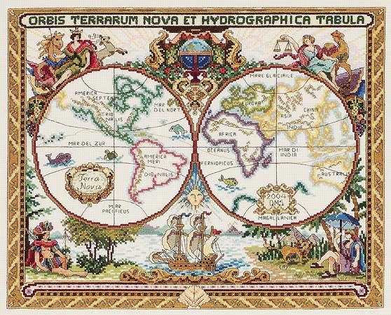 фото альбом Страны, города, строения Старая карта мира