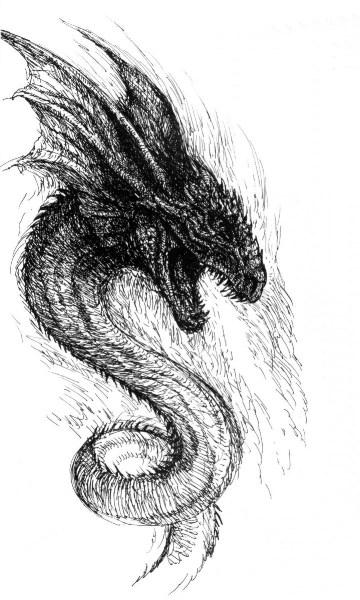 фото альбом Рисунки - Драконы и динозавры рисунки