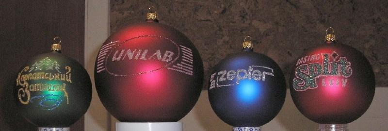 фото альбом Рекламно-сувенірна продукція новорічні іграшки з лого