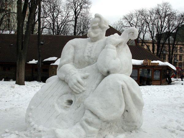 фото альбом Киев - Киев Шевченковский парк (выставка снежных скульптур)
