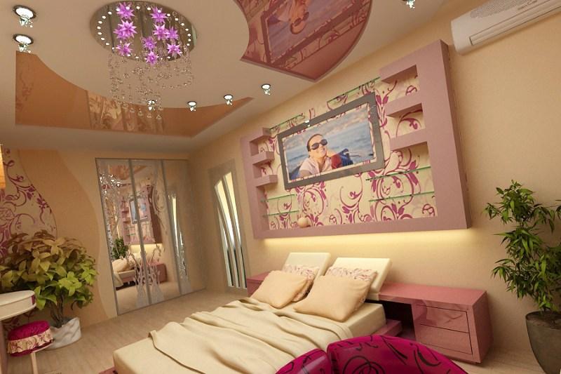 фото альбом Дизайн интерьера Спальня молодой хозяйки