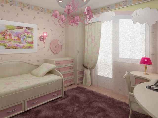фото альбом Дизайн интерьера Комната дочери