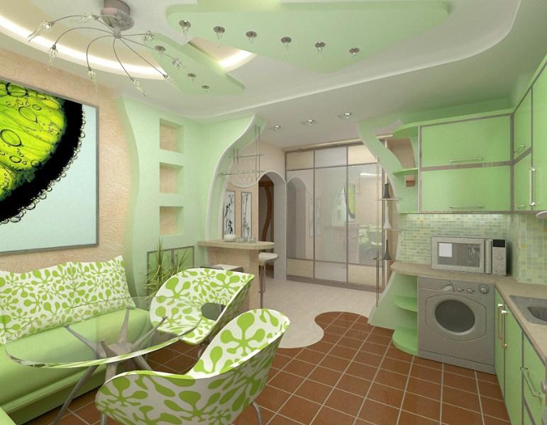 фото альбом Дизайн интерьера Кухня в двушке