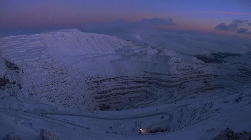 """фото альбом ...на плато Расвумчорр... ...карьер рудника """"Центральный""""..."""
