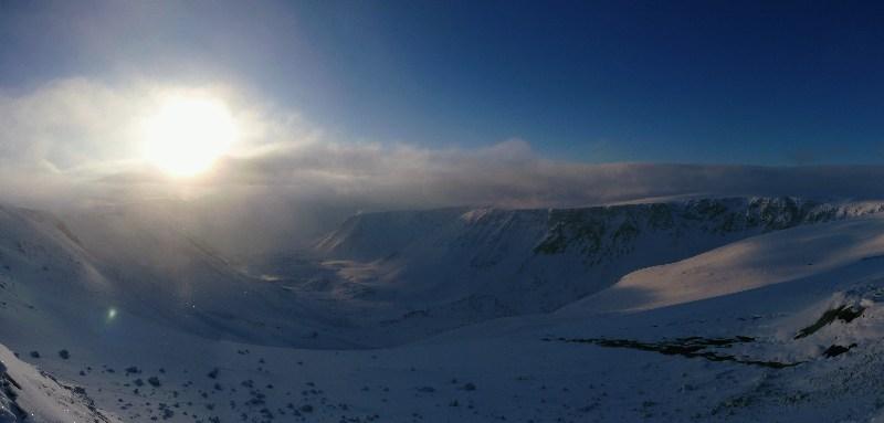 фото альбом ...на плато Расвумчорр... ...туманный восход...