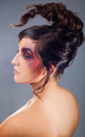фото альбом Прически. макияж, грим Грим, Создание образа, создание аксессуаров, Прически. Репина Ольга. 9265695