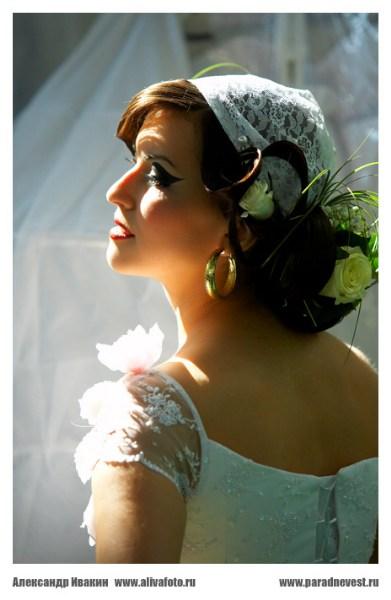 фото альбом Свадебные прически свадебная прическа парад невест май 2008